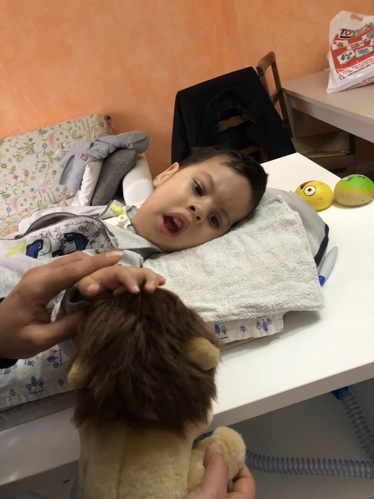 Un angelo fantastico, malato di Atrofia Muscolare Spinale, al quale abbiamo portato un po' di Natale